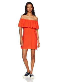 Billabong Women's Mi Bonita Off the Shoulder Ruffle Dress  M