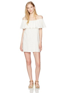 Billabong Women's Mi Bonita Off The Shoulder Ruffle Dress  S