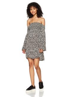 Billabong Women's Night Fox Smocked Woven Dress  XS