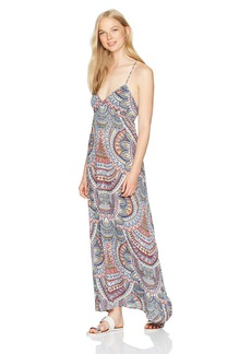 Billabong Women's Places to Be Printed Maxi Dress  L