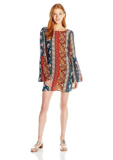 Billabong Women's Rainy Roads Printed Shift Dress  M