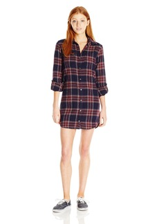 Billabong Junior's Winters Tale Flannel Plaid Dress  S