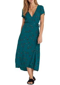 Billabong Wrap Me Up Print Midi Dress