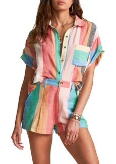 Billabong x Sincerely Jules Santorini Dreams Stripe Short Sleeve Top