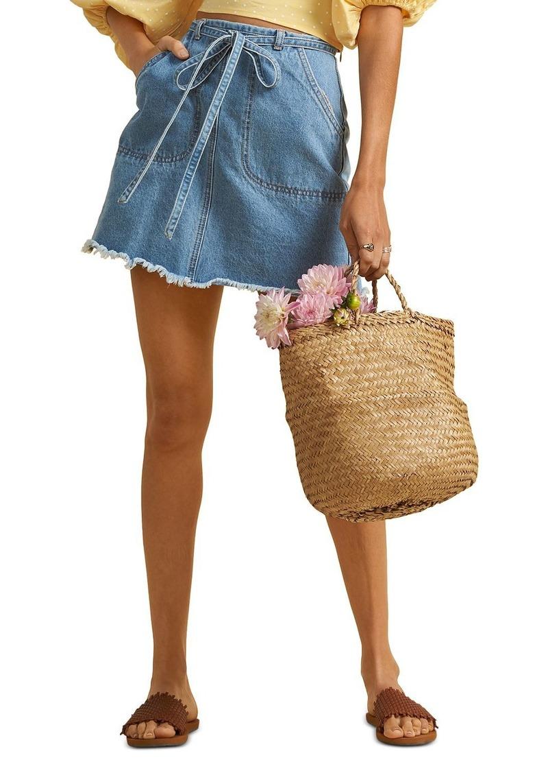 Billabong x The Salty Blonde Tied Up Denim Mini Skirt