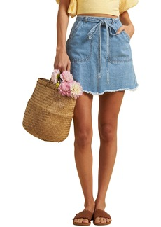 Billabong x The Salty Blonde Tied Up Denim Skirt (Aloha)