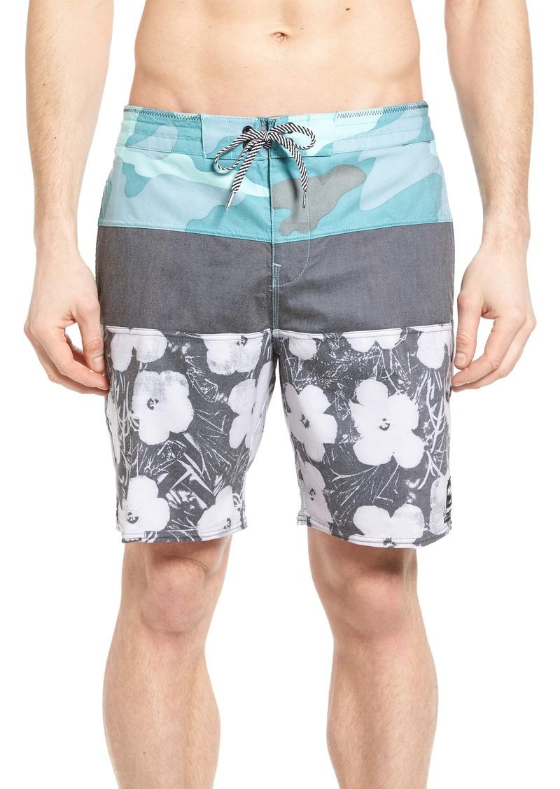 de723fe9b1 x Warhol Tribong Lo Tide Flowers Board Shorts