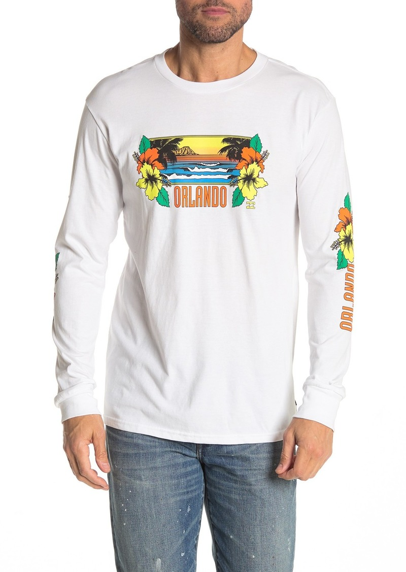 Billabong Diamond Head Print Long Sleeve T-Shirt