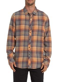 Billabong Freemont Plaid Print Slim Fit Flannel Shirt