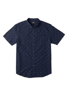 Men's Billabong All Day Jacquard Short Sleeve Button-Down Shirt