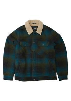 Men's Billabong Barlow Pattern Fleece Button-Up Shirt Jacket