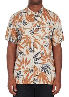 Men's Billabong Kern Leaf Print Short Sleeve Button-Up Shirt