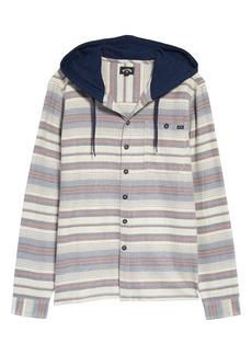 Men's Billabong Men's Flannel Button-Up Hoodie