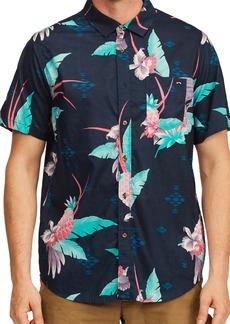 Men's Billabong Men's Sundays Floral Short Sleeve Button-Up Shirt
