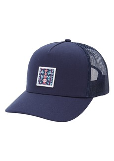 Men's Billabong Stacked Logo Trucker Hat - Blue