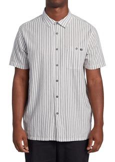Men's Billabong Sundays Jacquard Woven Short Sleeve Button-Up Shirt