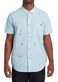Men's Billabong Sundays Mini Short Sleeve Button-Down Shirt