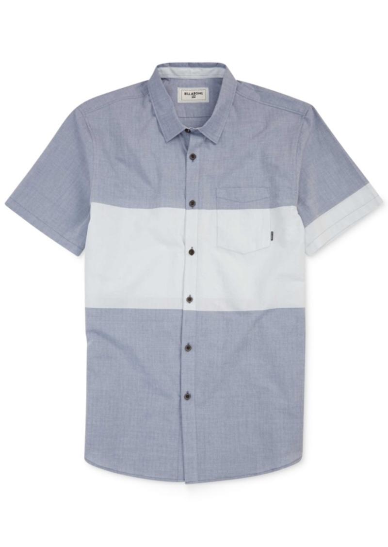 Billabong Men's Tribong Chambray Colorblocked Short-Sleeve Shirt