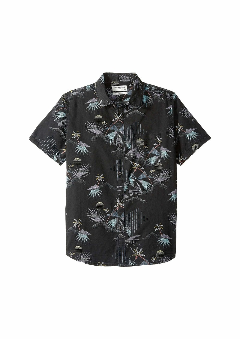Billabong Sundays Floral Short Sleeve Shirt (Big Kids)