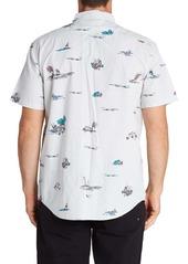 Billabong Sundays Print Short Sleeve Button-Down Shirt