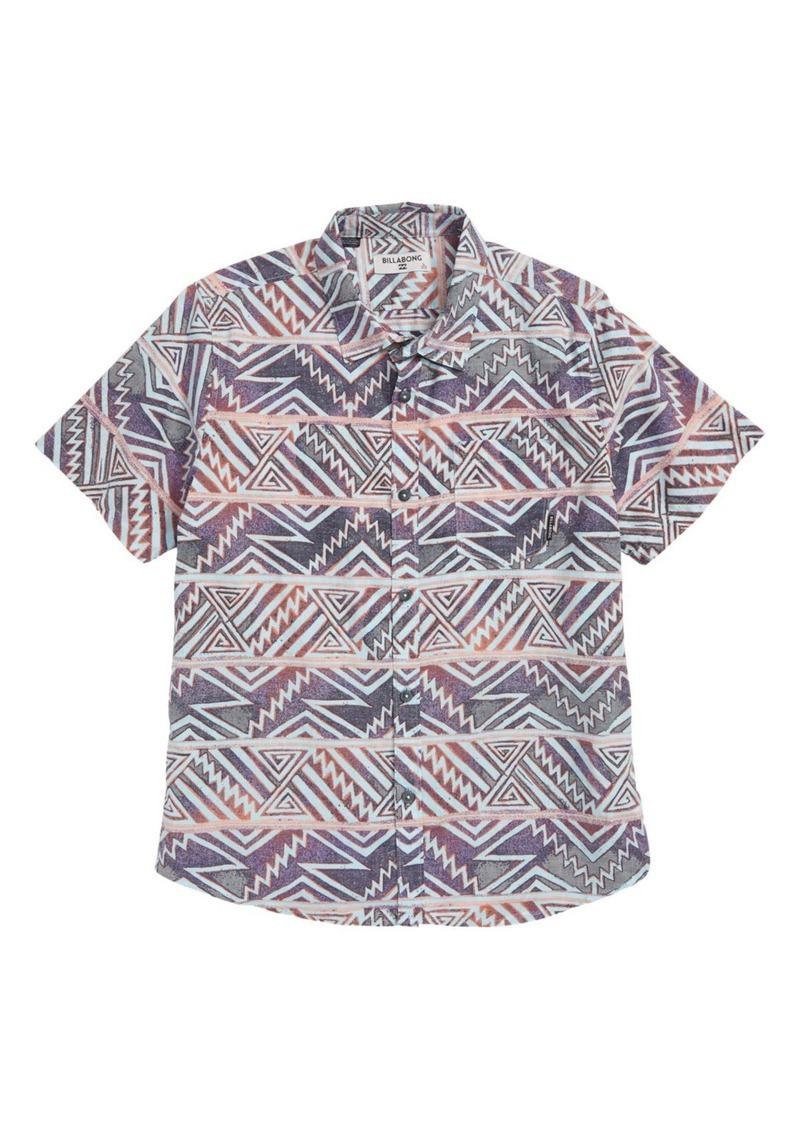 Billabong Sundays Print Woven Shirt (Toddler Boys)