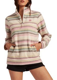 Women's Billabong Boundary Half Zip Mock Neck Fleece Pullover