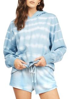 Women's Billabong Gold Coast Stripe Tie Dye Cotton Blend Hoodie