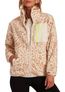 Women's Billabong Switchback Animal Print Zip-Up Fleece Jacket