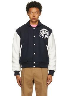 Billionaire Boys Club Navy Astro Varsity Bomber Jacket