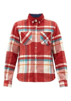 Billionaire Boys Club Patch-pocket plaid wool shirt