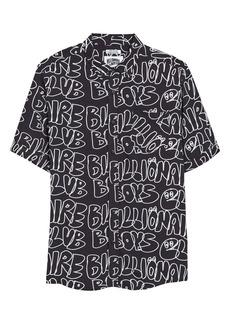 Billionaire Boys Club Ripples Short Sleeve Button-Up Shirt