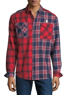 Billionaire Boys Club Men's Plaid Woven Sport Shirt