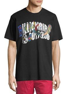 Billionaire Boys Club Men's Space and Flowers Logo Graphic T-Shirt