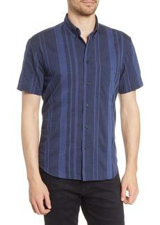 Billy Reid Bill Reid Regular Fit Tuscumbia Dobby Stripe Short Sleeve Button-Down Shirt