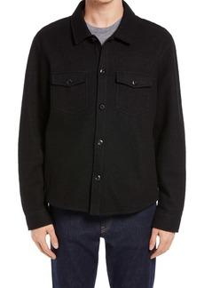 Billy Reid Boiled Wool & Cotton Shirt Jacket