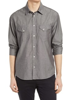 Billy Reid Chambray Western Button-Up Shirt