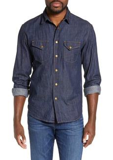 Billy Reid Distressed Denim Western Shirt