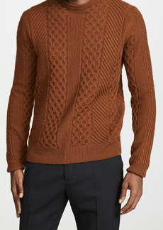 Billy Reid Heirloom Cable Crew Sweater