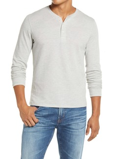 Billy Reid Herringbone Terry Long Sleeve Henley T-Shirt
