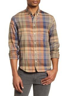 Billy Reid Kirby Slim Fit Plaid Button-Down Shirt