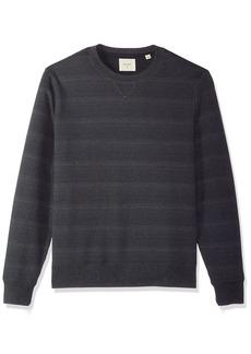 Billy Reid Men's Blurred Stripe Crewneck Sweatshirt  L