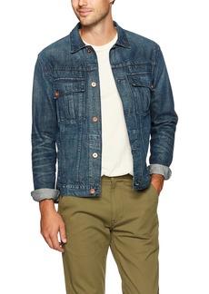 Billy Reid Men's Copper Button Selvedge Denim Clayton Jacket Washed M