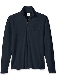 Billy Reid Men's Double Faced Long Sleeve Jordan Half Zip