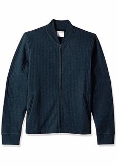 Billy Reid Men's Full Zip Giles Bomber Jacket with Elbow Patches  XXL