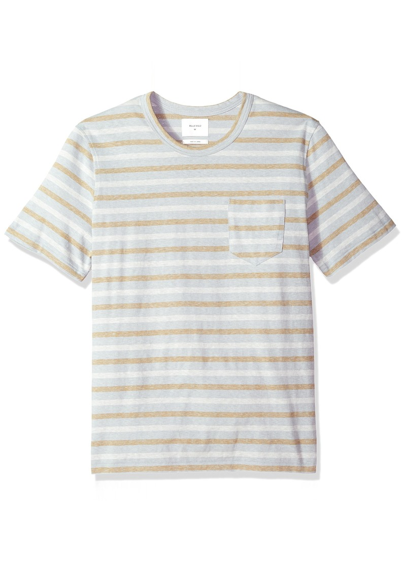 Billy Reid Men's Line Drawn Stripe Pocket T-Shirt  XXL