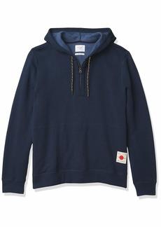Billy Reid Men's Pullover Fleece Quarter Zip Hoodie Sweatshirt  M