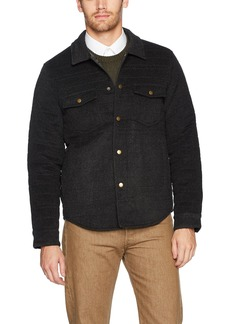 Billy Reid Men's Quilted Brass Snap Michael Jacket with Suede Details