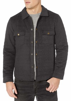 Billy Reid Men's Quilted Brass Snap Michael Jacket with Suede Details  M