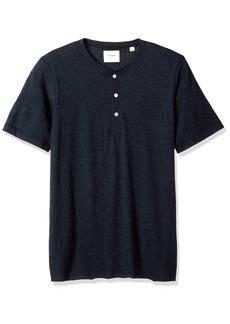 Billy Reid Men's Short Sleeve Hunter Henley  XXL