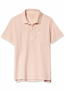 Billy Reid Men's Short Sleeve Slim Fit Pensacolo Polo Shirt with Pocket